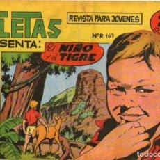 Tebeos: ATLETAS PRESENTA ÁFRICA - Nº 48 - EL NIÑO Y EL TIGRE - EDITORIAL MAGA - ORIGINAL - AÑO 1964. Lote 74564323