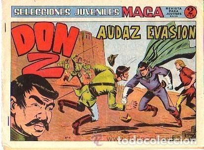 DON Z, 2ª SERIE, AÑO 1.964. COLECCIÓN COMPLETA DE 7. TEBEOS ORIGINALES. EDITORIAL MAGA. (Tebeos y Comics - Maga - Don Z)