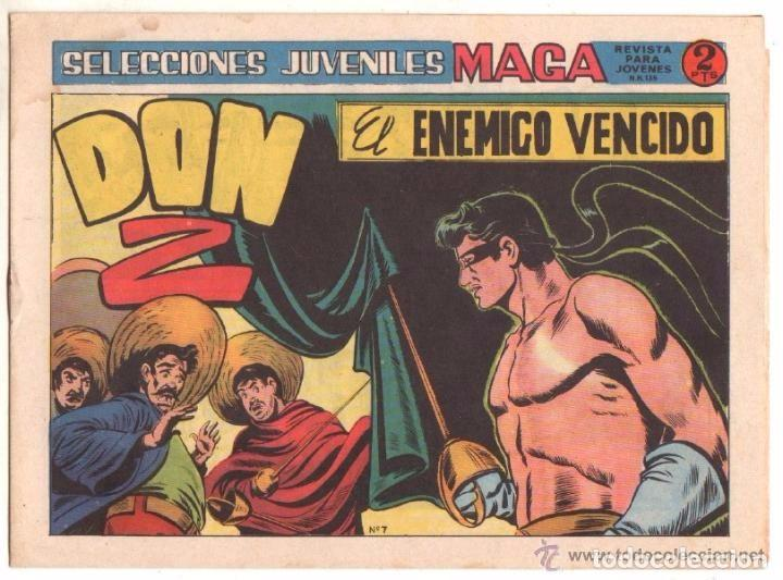 Tebeos: Don Z, 2ª Serie, Año 1.964. Colección Completa de 7. Tebeos Originales. Editorial Maga. - Foto 3 - 75172703