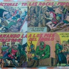 Tebeos: CAPITAN VALIENTE Nº 7, 8, 9 Y 12 (MAGA 1957) 4 TEBEOS.. Lote 54725479