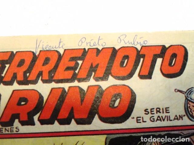 Tebeos: COMIC EL TERREMOTO MARINO, LA SOMBRA DEL PATIBULO SERIE EL GAVILAN, MAGA, Nº 3 - Foto 2 - 77527113
