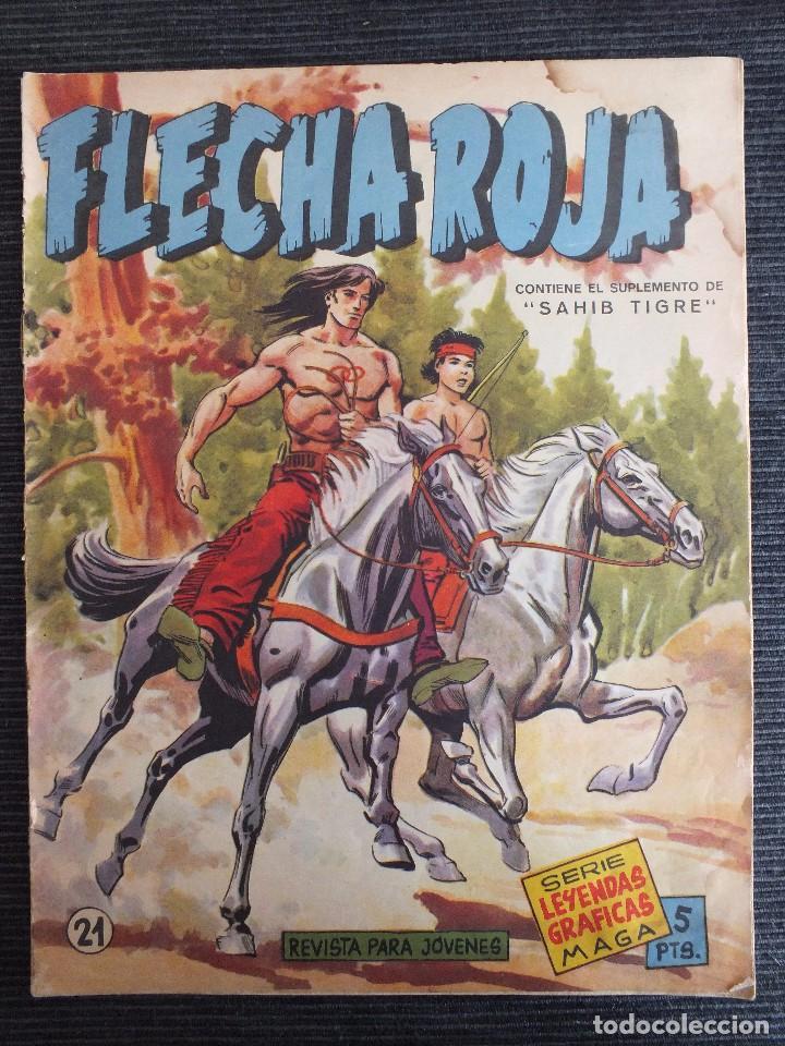 FLECHA ROJA Nº 21 ORIGINAL MAGA (Tebeos y Comics - Maga - Flecha Roja)