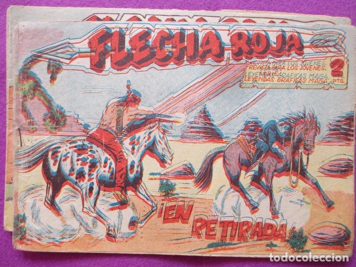 LOTE 3 TEBEOS FLECHA ROJA, ED. MAGA, VER FOTOS ADICIONALES (Tebeos y Comics - Maga - Flecha Roja)