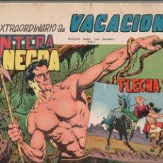 Tebeos: EXTRAORDINARIO DE VACACIONES DE PANTERA NEGRA Y FLECHA ROJA 1965 -ORIGINAL-. Lote 87385900