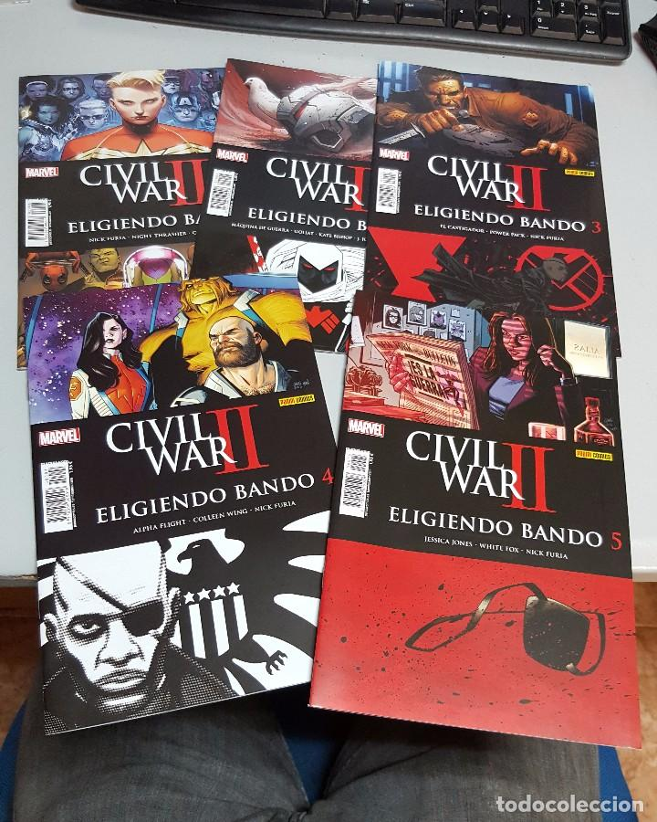 CIVIL WAR II : ELIGIENDO BANDO ¡ COMPLETA 5 NUMEROS ! MARVEL - PANINI (Tebeos y Comics - Maga - Pantera Negra)