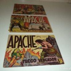 Tebeos: APACHE, AÑO 1.956. Nº 7 - 9 - 17. ORIGINALES. DIBUJOS DE L. BERMEJO. EDITORIAL MAGA.. Lote 90392312