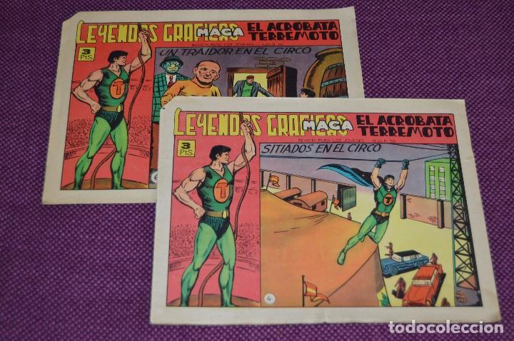 LOTE DE 2 NÚMEROS - EL ACROBATA TERREMOTO - EDITORIAL MAGA - ANTIGUO Y ORIGINAL - HAZME UNA OFERTA (Tebeos y Comics - Maga - Otros)