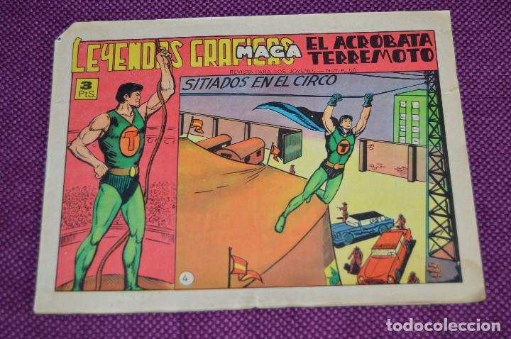 Tebeos: LOTE DE 2 NÚMEROS - EL ACROBATA TERREMOTO - EDITORIAL MAGA - ANTIGUO Y ORIGINAL - HAZME UNA OFERTA - Foto 2 - 90825440