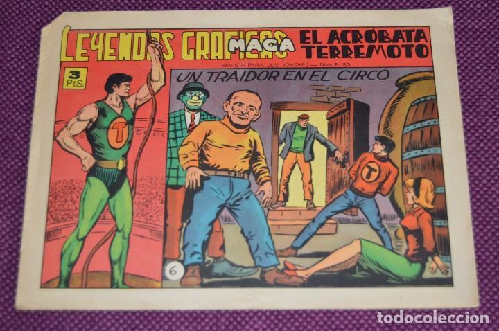 Tebeos: LOTE DE 2 NÚMEROS - EL ACROBATA TERREMOTO - EDITORIAL MAGA - ANTIGUO Y ORIGINAL - HAZME UNA OFERTA - Foto 3 - 90825440