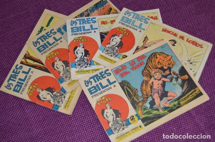 LOTE DE 5 NÚMEROS - SAHIB TIGRE - EDITORIAL MAGA - ANTIGUO Y ORIGINAL - HAZME UNA OFERTA (Tebeos y Comics - Maga - Otros)