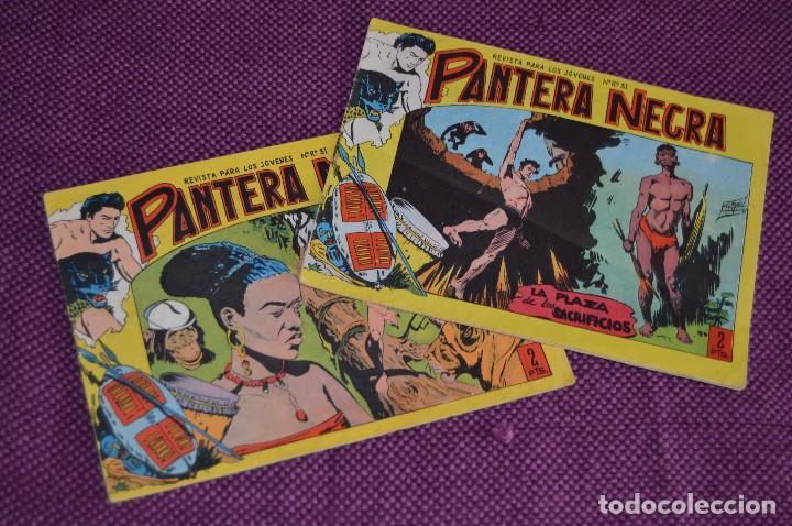 LOTE DE 2 NÚMEROS - PANTERA NEGRA - EDITORIAL MAGA - ANTIGUO Y ORIGINAL - HAZME UNA OFERTA (Tebeos y Comics - Maga - Pantera Negra)