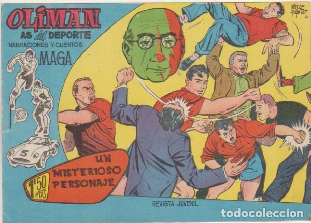 OLIMAN Nº 5. MAGA 1960. CROMO DE MANOLO MESTRE. SIN ABRIR ¡IMPECABLE! (Tebeos y Comics - Maga - Oliman)