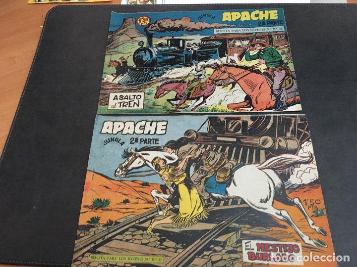 Tebeos: APACHE 2ª PARTE 29 EJEMPLARES INCLUIDO Nº 1 (ORIGINAL ED. MAGA) (COIB171) - Foto 7 - 94744639
