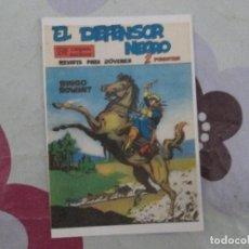 Tebeos: EL DEFENSOR NEGRO Nº 1 FICHA.. Lote 95142351