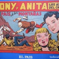 Tebeos: TONY Y ANITA , NUMERO 72 , EL PAIS DE LAS MONTAÑAS , MAGA , ORIGINAL , 1952. Lote 96310823