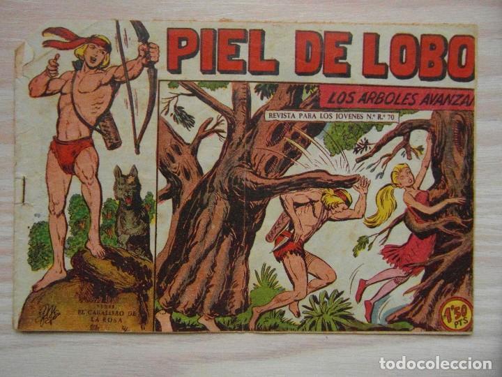 LOS ARBOLES AVANZAN. PIEL DE LOBO Nº 76. SERIE EL CABALLERO DE LA ROSA. MAGA.DIBUJA M. GAGO. 1960 (Tebeos y Comics - Maga - Piel de Lobo)