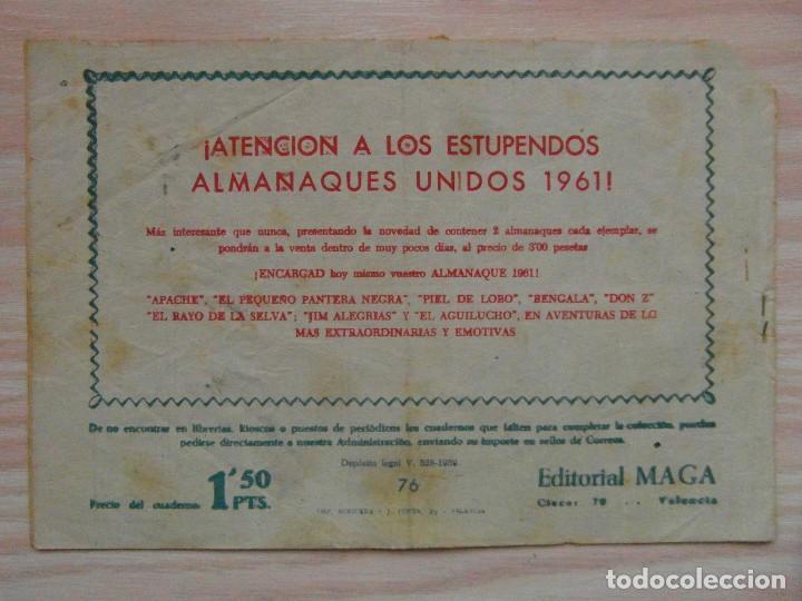 Tebeos: Los arboles avanzan. Piel de lobo nº 76. Serie el caballero de la rosa. Maga.Dibuja M. Gago. 1960 - Foto 2 - 99248411