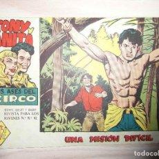 Tebeos: UNA MISION DIFICIL. Nº 38 DE TONY Y ANITA. SERIE BERT Y BART. ED. MAGA.DIBUJA MIGUEL QUESADA. 1961. Lote 99250799