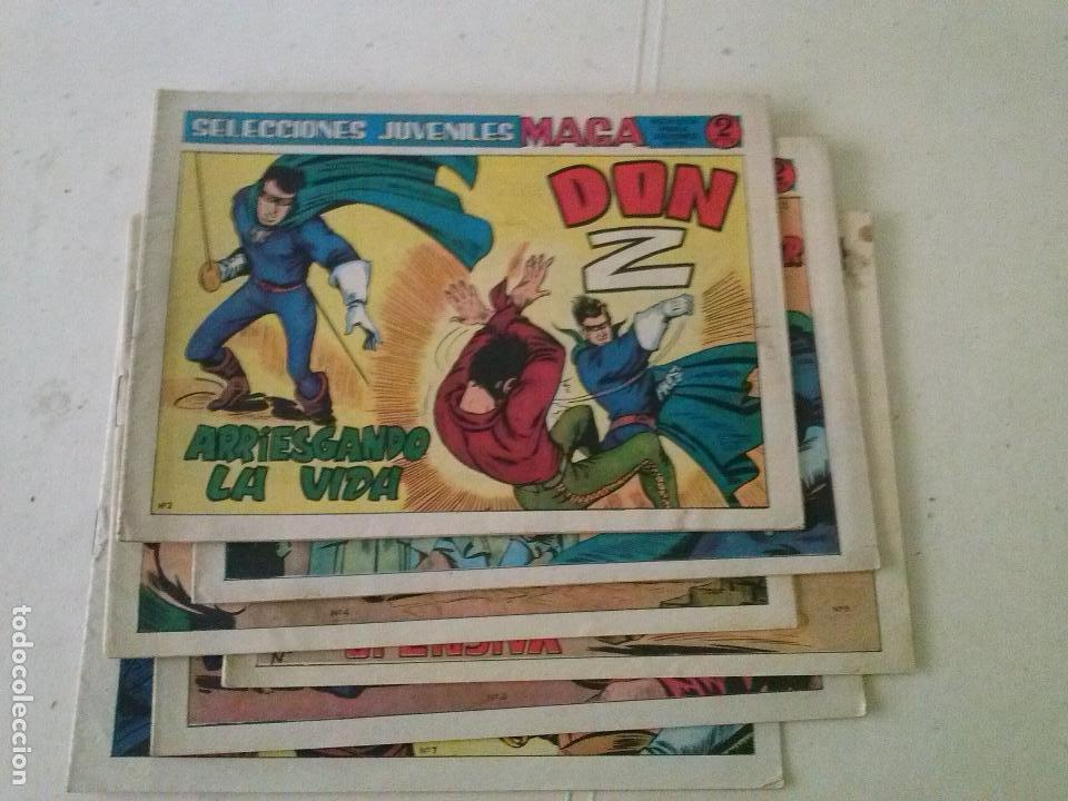 DON Z 2ª COL. DE 7 NºS, MAGA- ORIGINALS LOTE DEL Nº 2 AL Nº 7 (Tebeos y Comics - Maga - Don Z)
