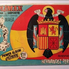 Tebeos: OLIMAN, ÁLBUM CON 10 CROMOS DE 16, PRIMER ÁLBUM DE CROMOS, 1961. Lote 100708631