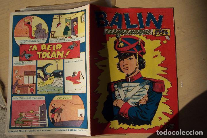 MAGA,- UN GRAN LOTE DE BALIN FOTOS UNITARIAS INCLUIDO EL ALMANAQUE (Tebeos y Comics - Maga - Otros)
