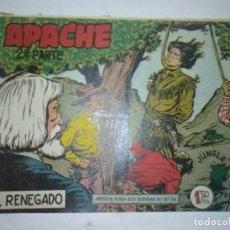 Tebeos: APACHE-II- Nº 3 -EL RENEGADO- 1960- GENIAL CLAUDIO TINOCO- BUENO- MUY RARO Y ESCASO- LEAN-7198. Lote 101496791