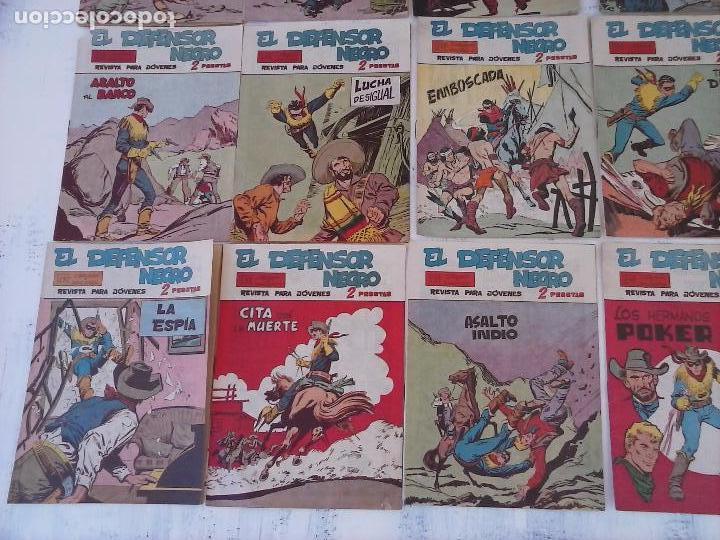 Tebeos: EL DEFENSOR NEGRO ORIGINAL TAMAÑO GRANDE 1 A 40, VER IMAGENES - Foto 7 - 101572283