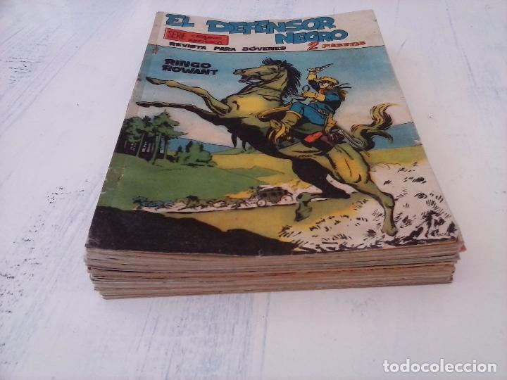 Tebeos: EL DEFENSOR NEGRO ORIGINAL TAMAÑO GRANDE 1 A 40, VER IMAGENES - Foto 12 - 101572283
