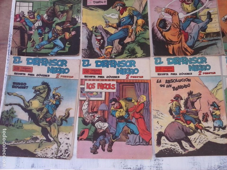 Tebeos: EL DEFENSOR NEGRO ORIGINAL TAMAÑO GRANDE 1 A 40, VER IMAGENES - Foto 17 - 101572283