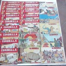 Tebeos: LA CUADRILLA ORIGINAL COMPLETA Y SUELTA - 1 AL 45 - EDI. MAGA 1961 -VER TODAS LAS PORTADAS. Lote 102019691