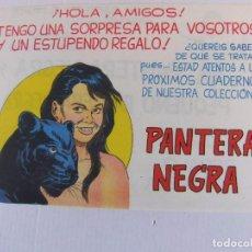 Tebeos: FOLLETO ANUNCIADOR DE LAS NUEVAS AVENTURAS DE PANTERA NEGRA Y PEQUEÑO PANTEA NEGRA. Lote 103911787
