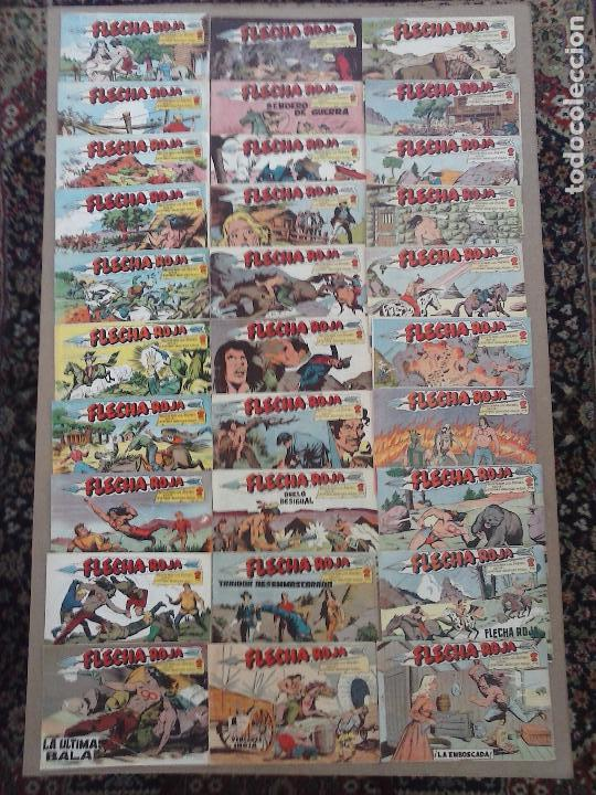 FLECHA ROJA ORIGINAL COMPLETA 1 AL 79 - 1962 MAGA - EXCELENTE ESTADO, VER PORTADAS (Tebeos y Comics - Maga - Flecha Roja)