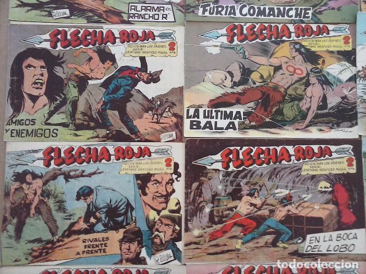 Tebeos: FLECHA ROJA ORIGINAL COMPLETA 1 AL 79 - 1962 MAGA - EXCELENTE ESTADO, VER PORTADAS - Foto 3 - 103978683