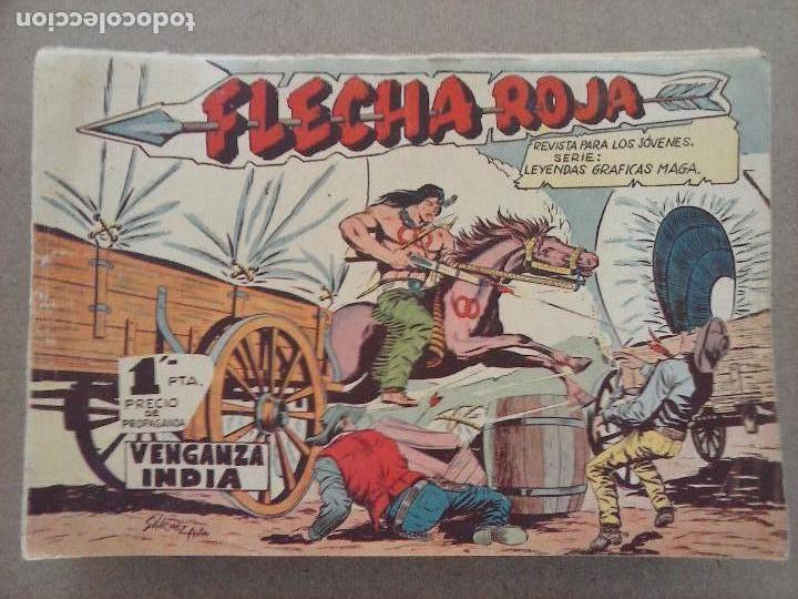 Tebeos: FLECHA ROJA ORIGINAL COMPLETA 1 AL 79 - 1962 MAGA - EXCELENTE ESTADO, VER PORTADAS - Foto 4 - 103978683
