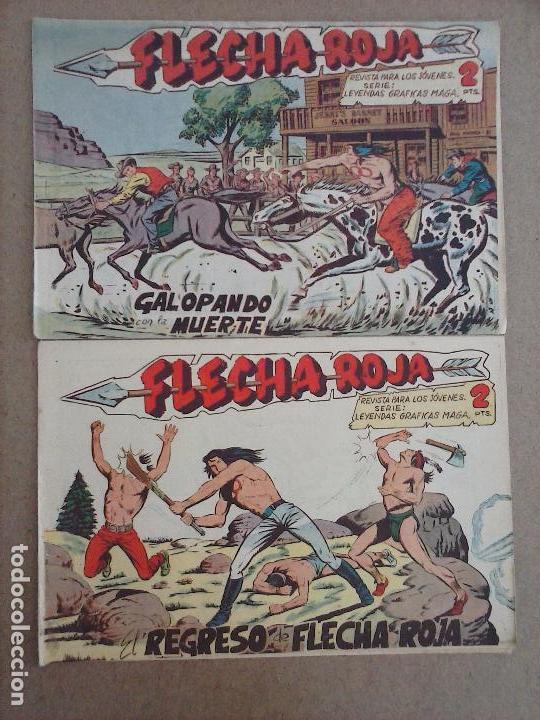 Tebeos: FLECHA ROJA ORIGINAL COMPLETA 1 AL 79 - 1962 MAGA - EXCELENTE ESTADO, VER PORTADAS - Foto 5 - 103978683
