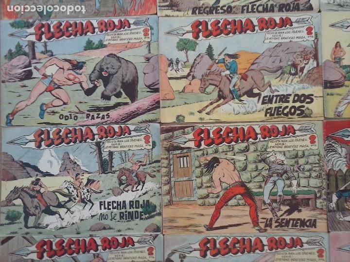 Tebeos: FLECHA ROJA ORIGINAL COMPLETA 1 AL 79 - 1962 MAGA - EXCELENTE ESTADO, VER PORTADAS - Foto 7 - 103978683