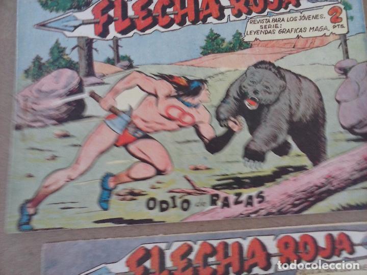 Tebeos: FLECHA ROJA ORIGINAL COMPLETA 1 AL 79 - 1962 MAGA - EXCELENTE ESTADO, VER PORTADAS - Foto 9 - 103978683