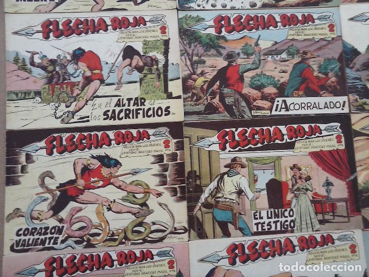 Tebeos: FLECHA ROJA ORIGINAL COMPLETA 1 AL 79 - 1962 MAGA - EXCELENTE ESTADO, VER PORTADAS - Foto 10 - 103978683