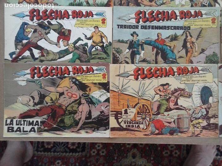 Tebeos: FLECHA ROJA ORIGINAL COMPLETA 1 AL 79 - 1962 MAGA - EXCELENTE ESTADO, VER PORTADAS - Foto 11 - 103978683