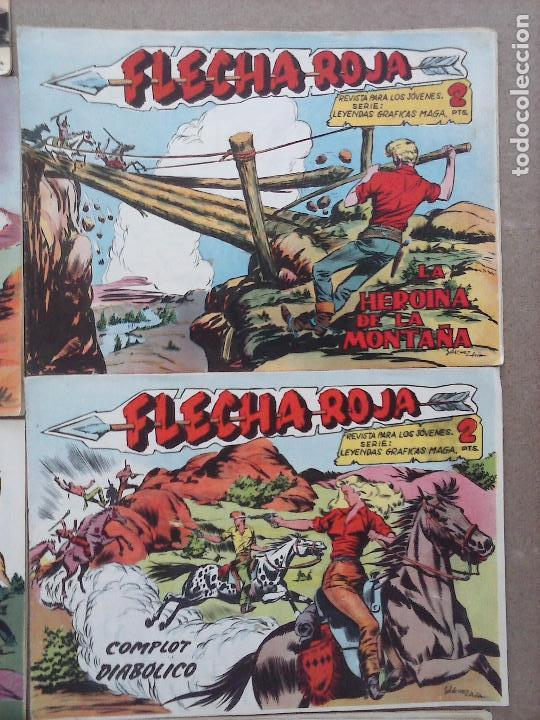 Tebeos: FLECHA ROJA ORIGINAL COMPLETA 1 AL 79 - 1962 MAGA - EXCELENTE ESTADO, VER PORTADAS - Foto 12 - 103978683