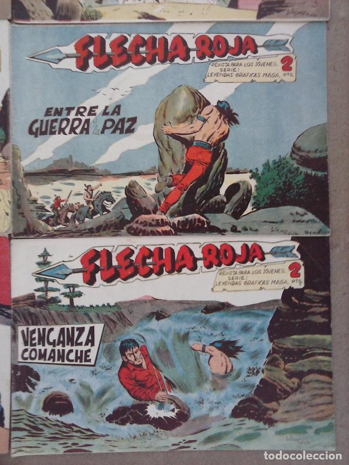 Tebeos: FLECHA ROJA ORIGINAL COMPLETA 1 AL 79 - 1962 MAGA - EXCELENTE ESTADO, VER PORTADAS - Foto 14 - 103978683