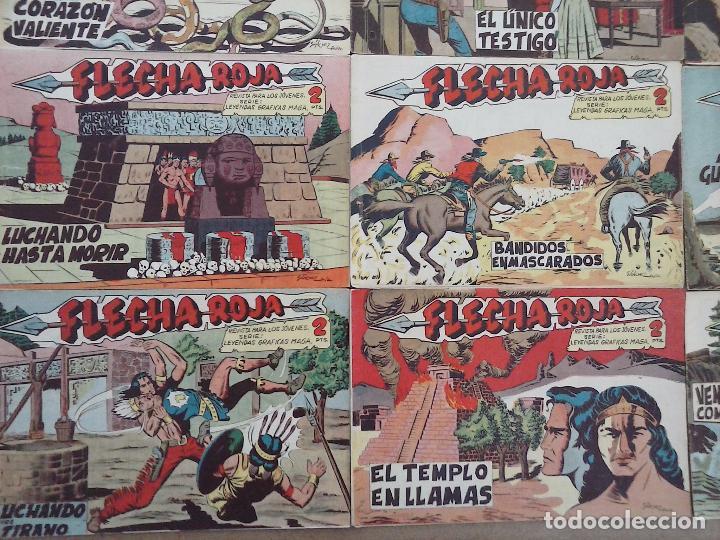 Tebeos: FLECHA ROJA ORIGINAL COMPLETA 1 AL 79 - 1962 MAGA - EXCELENTE ESTADO, VER PORTADAS - Foto 16 - 103978683