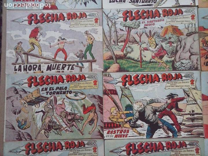 Tebeos: FLECHA ROJA ORIGINAL COMPLETA 1 AL 79 - 1962 MAGA - EXCELENTE ESTADO, VER PORTADAS - Foto 17 - 103978683