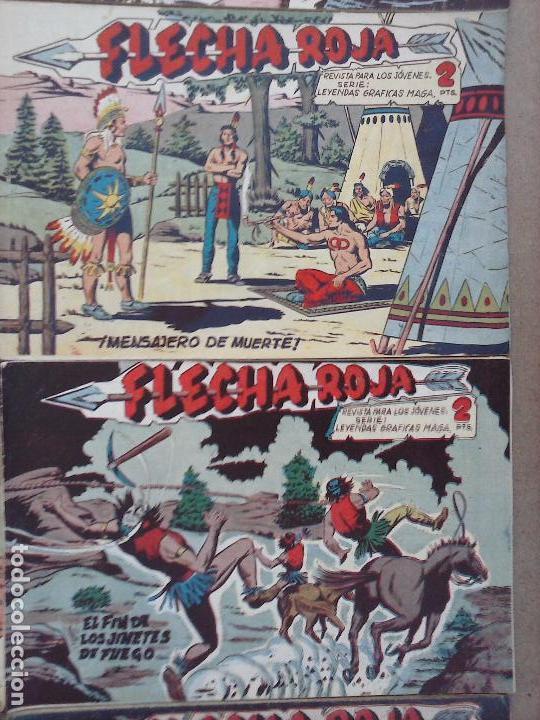 Tebeos: FLECHA ROJA ORIGINAL COMPLETA 1 AL 79 - 1962 MAGA - EXCELENTE ESTADO, VER PORTADAS - Foto 18 - 103978683