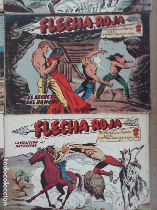 Tebeos: FLECHA ROJA ORIGINAL COMPLETA 1 AL 79 - 1962 MAGA - EXCELENTE ESTADO, VER PORTADAS - Foto 19 - 103978683