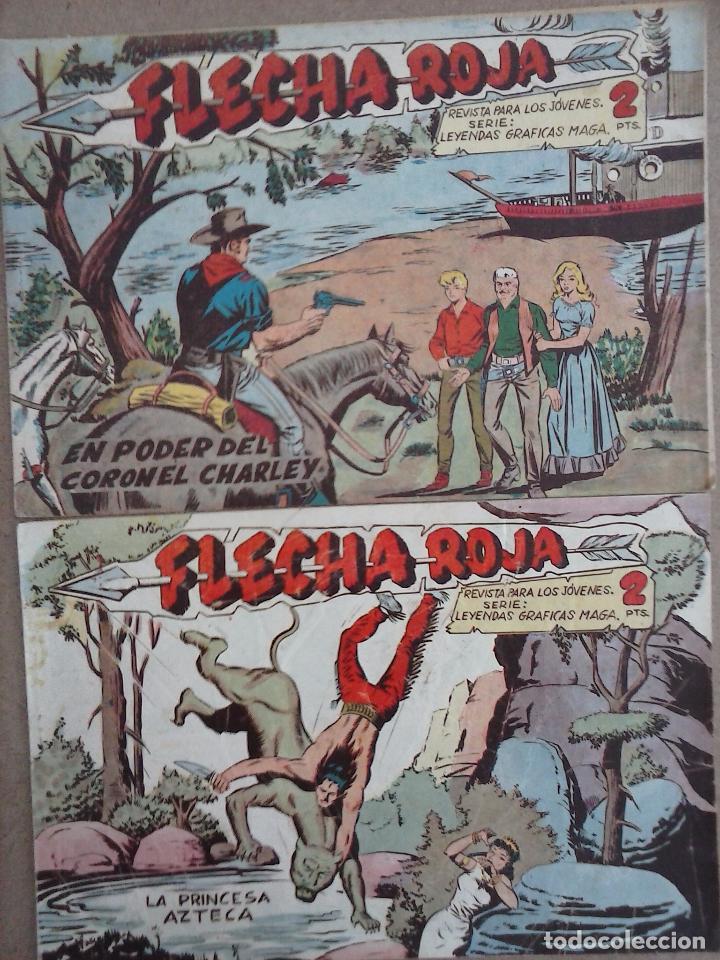 Tebeos: FLECHA ROJA ORIGINAL COMPLETA 1 AL 79 - 1962 MAGA - EXCELENTE ESTADO, VER PORTADAS - Foto 20 - 103978683