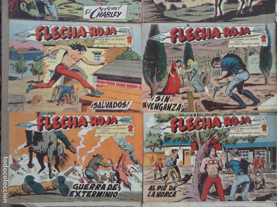 Tebeos: FLECHA ROJA ORIGINAL COMPLETA 1 AL 79 - 1962 MAGA - EXCELENTE ESTADO, VER PORTADAS - Foto 21 - 103978683