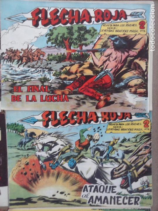 Tebeos: FLECHA ROJA ORIGINAL COMPLETA 1 AL 79 - 1962 MAGA - EXCELENTE ESTADO, VER PORTADAS - Foto 23 - 103978683