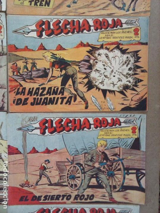 Tebeos: FLECHA ROJA ORIGINAL COMPLETA 1 AL 79 - 1962 MAGA - EXCELENTE ESTADO, VER PORTADAS - Foto 25 - 103978683