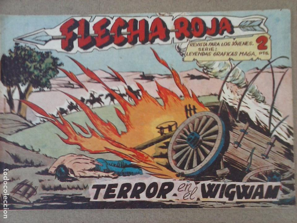 Tebeos: FLECHA ROJA ORIGINAL COMPLETA 1 AL 79 - 1962 MAGA - EXCELENTE ESTADO, VER PORTADAS - Foto 26 - 103978683